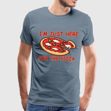 im_just_here_for_the_pizza - Men's Premium T-Shirt