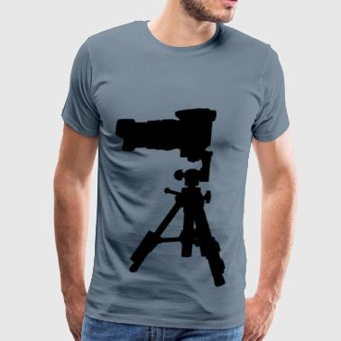 Camera On Tripod Silhouette 2 - Men's Premium T-Shirt
