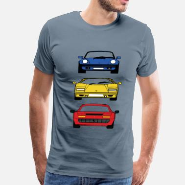 F40 80'S BOYHOOD DREAM CARS - Men's Premium T-Shirt