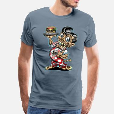 Rat Fink Monster Big Boy - Men's Premium T-Shirt
