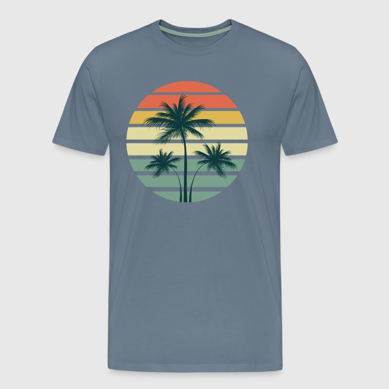 Summer Palm Sunset - Men's Premium T-Shirt