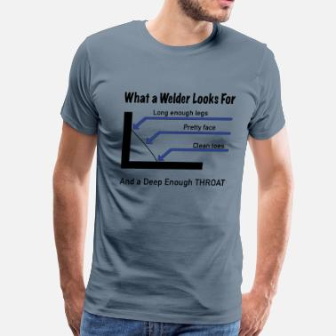 Weld What a welder looks for - Men's Premium T-Shirt