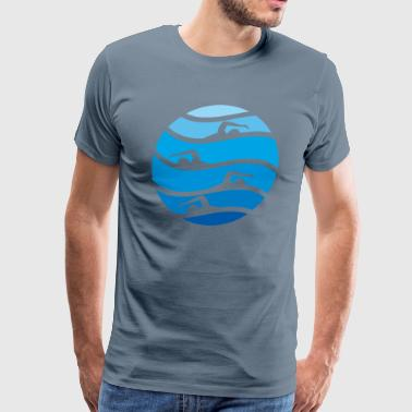 swimming - Men's Premium T-Shirt