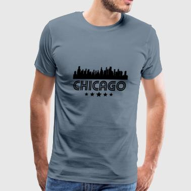 Retro Chicago Skyline - Men's Premium T-Shirt