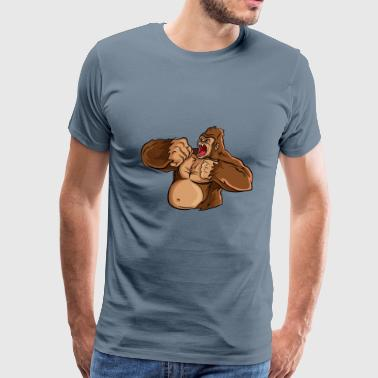 Monkey animal gorilla wildlife cool vector image - Men's Premium T-Shirt