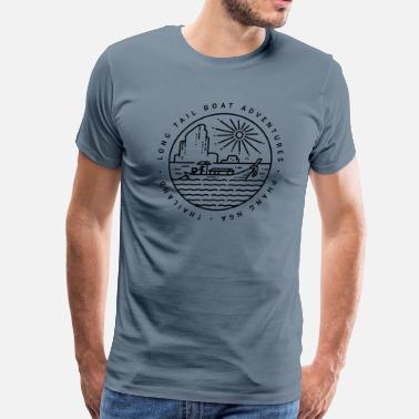 Krabi Long Tail Adventures thailand design - Men's Premium T-Shirt