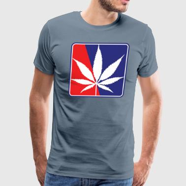 Red Pot Red-and-Blue-Pot-Leaf - Men's Premium T-Shirt