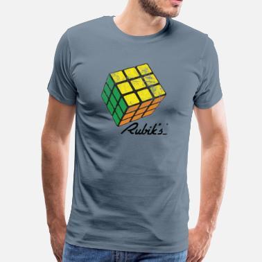 7aeb912efdf3 Rubik's Cube Solved Colourful Vintage - Men's Premium T-Shirt
