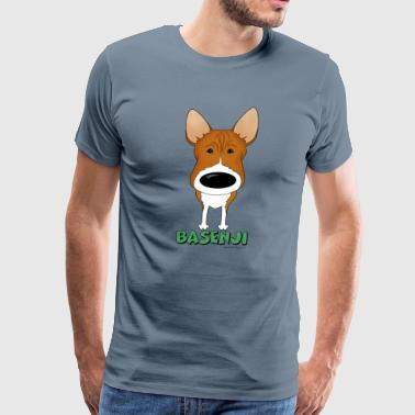 Big Nose Basenji - Men's Premium T-Shirt