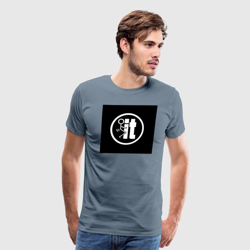 fuck it round tshirt - Men's Premium T-Shirt