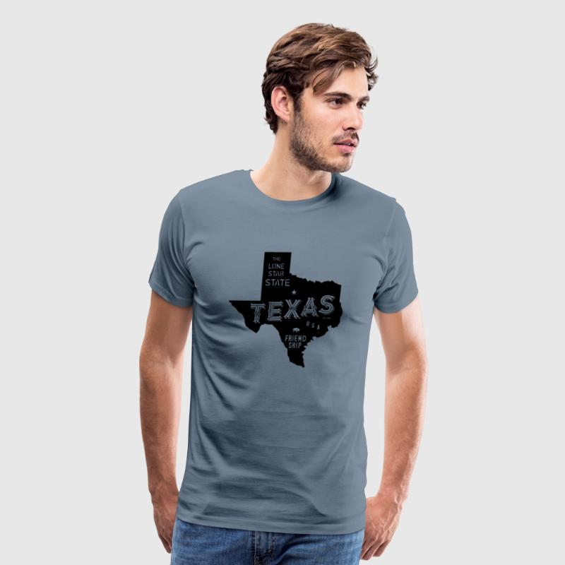 Texas Motto & Nickname - Men's Premium T-Shirt