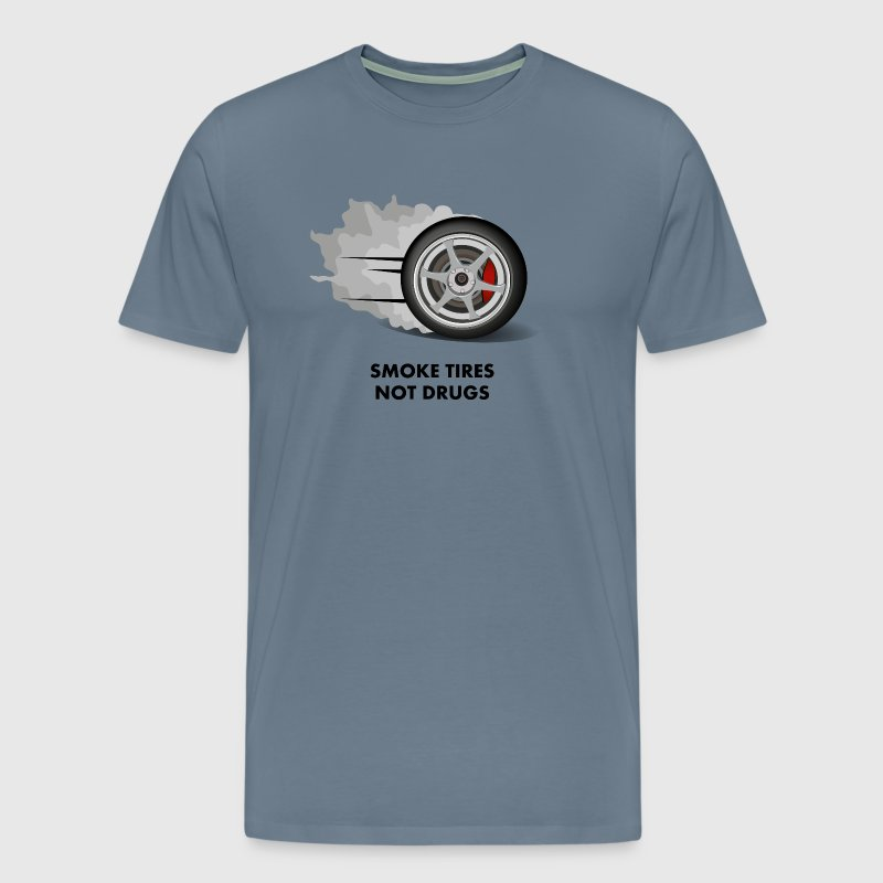 JDM Smoke tires not drugs | T-shirts JDM - Men's Premium T-Shirt