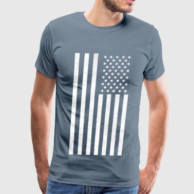 US Vintage Flag - Men's Premium T-Shirt