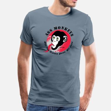 Ass Tv Ass Monkeys - Men's Premium T-Shirt