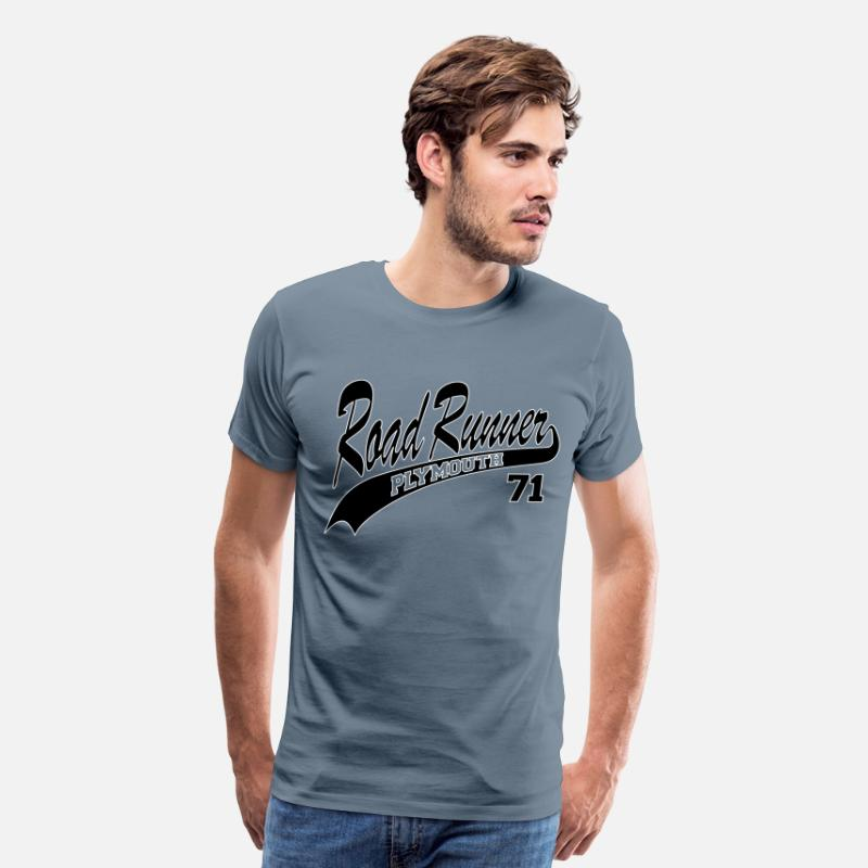 1970 T-Shirts - 71 Road Runner-white outl - Men's Premium T-Shirt steel blue