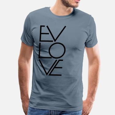 Wrong Spell EVLOVE - Not Just Spelled Wrong - Men's Premium T-Shirt