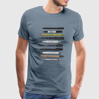 Pencil Pro Graphic Design Pens - Men's Premium T-Shirt