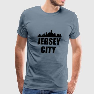 Jersey City NJ Skyline - Men's Premium T-Shirt
