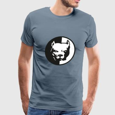 Head Pitbull Dog Pitbull Head T-Shirt - Men's Premium T-Shirt