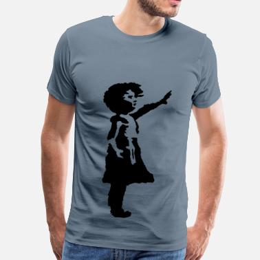 Silhouette Girl Little Girl Silhouette - Men's Premium T-Shirt