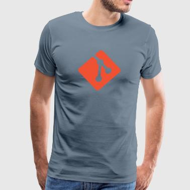 Version Control Git Logo - Men's Premium T-Shirt