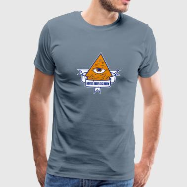 Brand American Apparel Funny Illuminati Fun Pyramid - Men's Premium T-Shirt