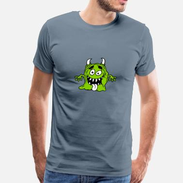 Monster Slimy Slimy disgusting mucus glibber monster small naugh - Men's Premium T-Shirt