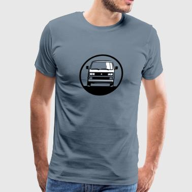 T3 T3.2 Bus (front + your Text) - Men's Premium T-Shirt