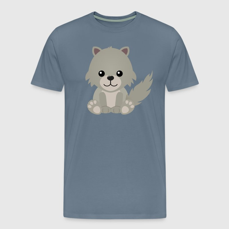 Cute Wolf Cub - Men's Premium T-Shirt