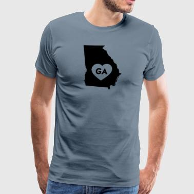 I Love Georgia State - Men's Premium T-Shirt