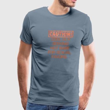 CAUTION! - Men's Premium T-Shirt