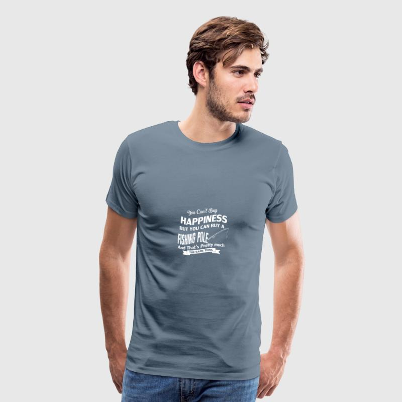 You can't buy happiness but you can buy a pole - Men's Premium T-Shirt