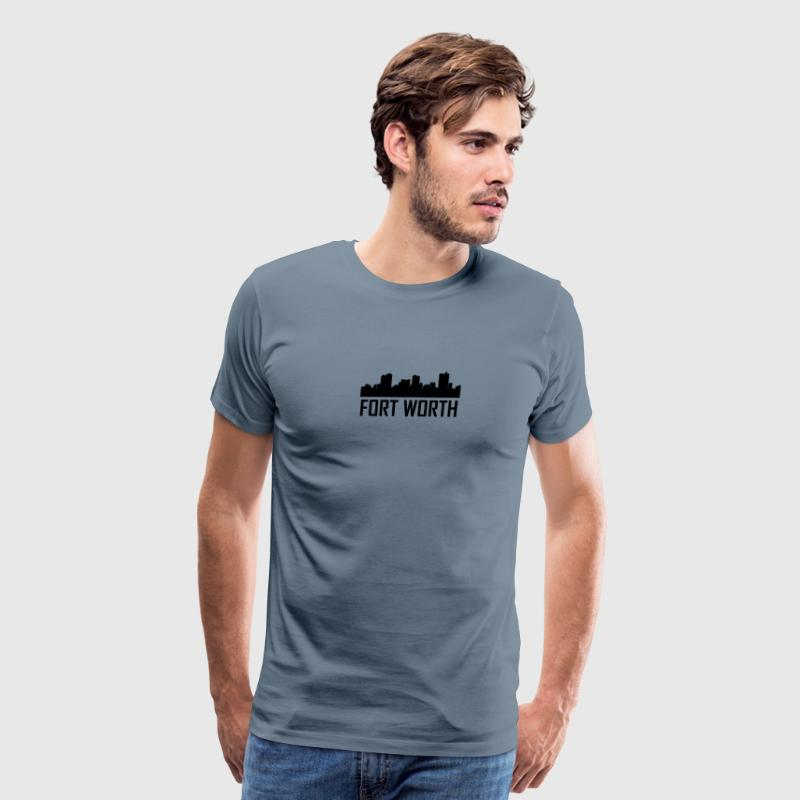 Fort Worth Texas City Skyline - Men's Premium T-Shirt