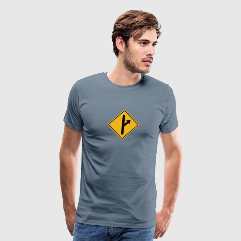 MGTOW Road Sign - Men's Premium T-Shirt