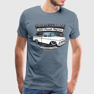 Greasy's Garage Old Truck Repair - Men's Premium T-Shirt