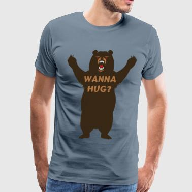 wanna hug? - Men's Premium T-Shirt