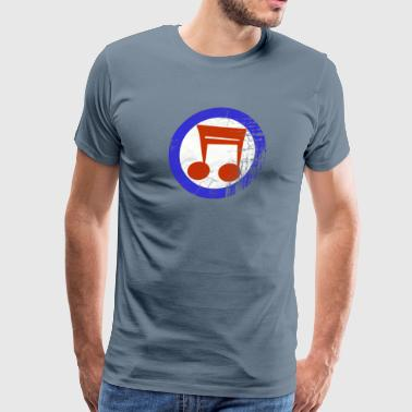 music mod distressed tee - Men's Premium T-Shirt