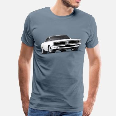 1969 Dodge Charger 69 Charger RT - Men's Premium T-Shirt