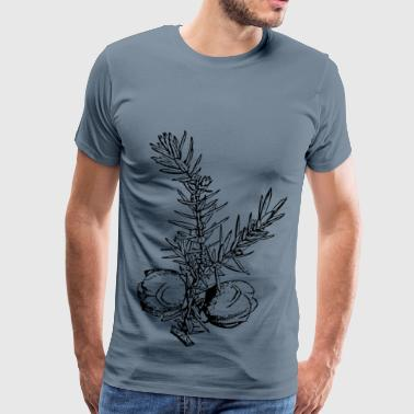 juniper branch and berries - Men's Premium T-Shirt