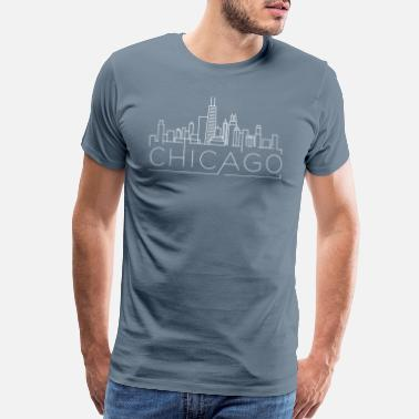 Loyalty Chicago Skyline Design for Natives or Visitors to - Men's Premium T-Shirt