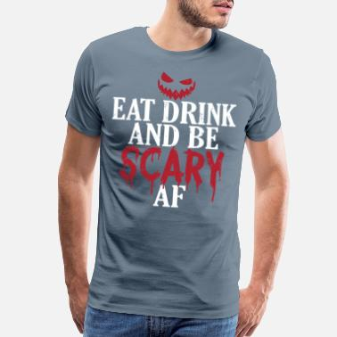 Eve Scary Halloween Design For Those Who Love to Eat - Men's Premium T-Shirt