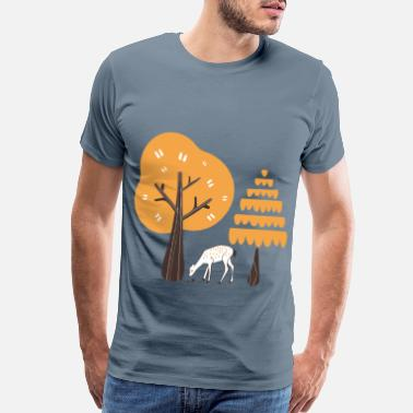Cozy Autumn deer - Men's Premium T-Shirt