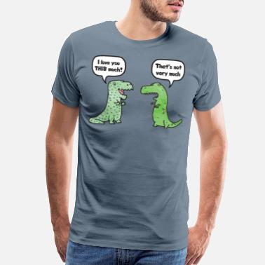 Anniversary T-Rex Loves You This Much - Men's Premium T-Shirt