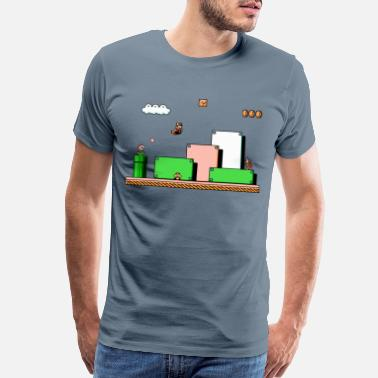 Super Super mario Bros 3 - Men's Premium T-Shirt