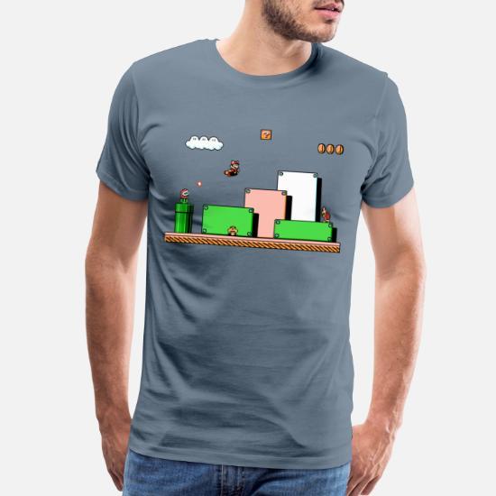 Super Mario Bros 3 Retro Video Game Long Sleeve T Shirt