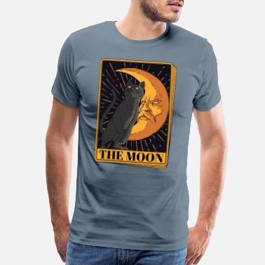 Tarot Tarot Card Crescent Moon And Cat Graphic Black Cat - Men's Premium T-Shirt