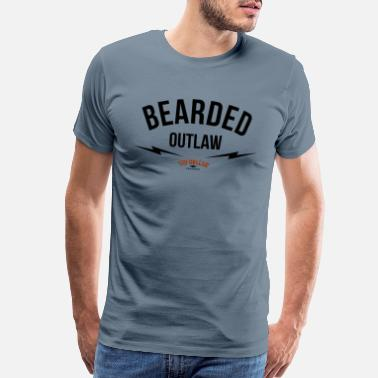 Beard Brothers Bearded outlaw - Men's Premium T-Shirt