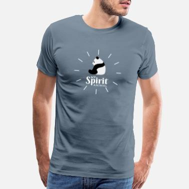 Spiritualist Panda My Spirit Animal Light Version - Men's Premium T-Shirt