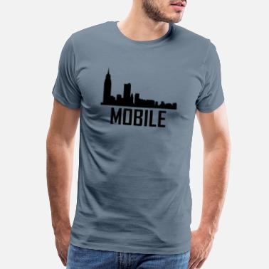 Mobile Alabama Mobile Alabama City Skyline - Men's Premium T-Shirt