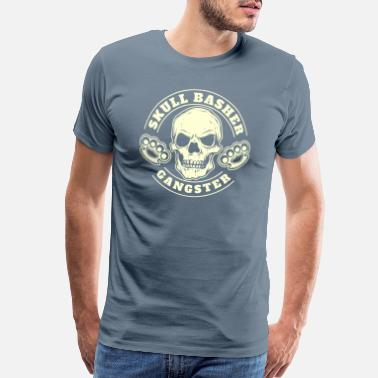2nd Amendment Skull Basher Knuckles #USAPatriotGraphics © - Men's Premium T-Shirt
